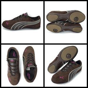Puma Women's Size 8 Brown Suede Shoes, excellent c